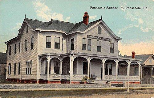 pensacola-florida-sanitarium-street-view-antique-postcard-k9361