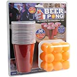 Adult Drinking Game 36 Piece Beer Pong Ultimate Tournament Kit Cups & Balls Set