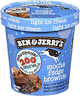 product image for Ben & Jerry's - Moo-phoria! Light Ice Cream, Non-GMO - Fairtrade - Cage-Free Eggs - Caring Dairy - Responsibly Sourced Packaging, Mocha Fudge Brownie, Pint (8 Count)