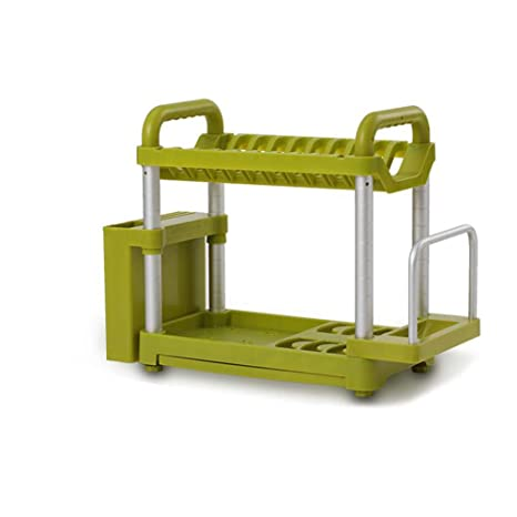 2 Pisos Escurridor De Aluminio Para Mueble De Cocina Para Platos Y Cubiertos: Amazon.es: Hogar