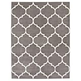 Sweet Home Stores King Collection Moroccan Trellis Design Area Rug, 7'10 X 9'10, Grey