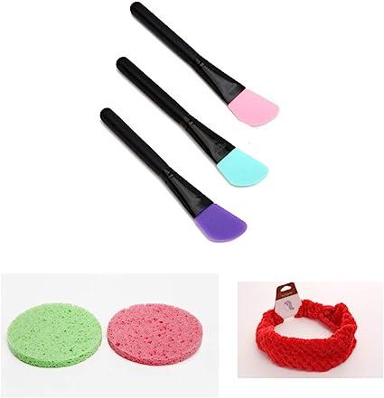 6 pcs Set Brochas de silicona para mascarilla facial maquillaje cosmética limpieza rostro Pack Multirostro: Amazon.es: Belleza