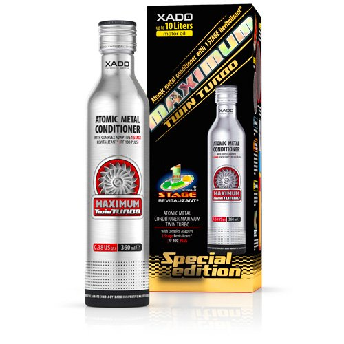 Price comparison product image XADO Engine Oil Additive Metal Conditioner Engine Treatment - Wear Protection & Rebuilding of Worn Metal - Premium Version - 1 Stage Maximum Twin Turbo (high-Performance Engines 3-10Qt)