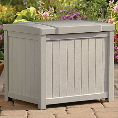 Suncast Nexus Premium 22-Gallon Small Outdoor Storage Resin Deck Box - SS900 Plastic Fade-Resistant Stay-Dry by Suncast