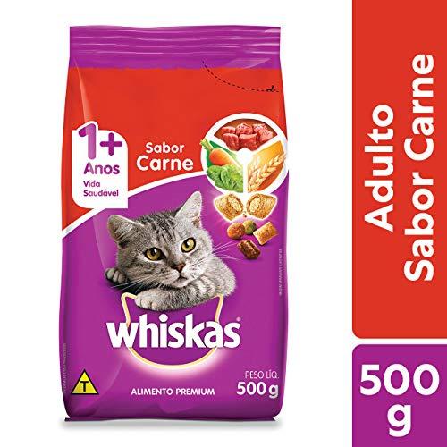 Ração Whiskas Carne Para Gatos Adultos 500 g Whiskas para Todas Todos os tamanhos de raça Adulto - Sabor Carne