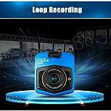 Yosa Mini Car DVR Camera Topbox GT300 Dashcam Full HD 1080P Video Registrator Recorder G-sensor Night Vision Dash Cam(blue)