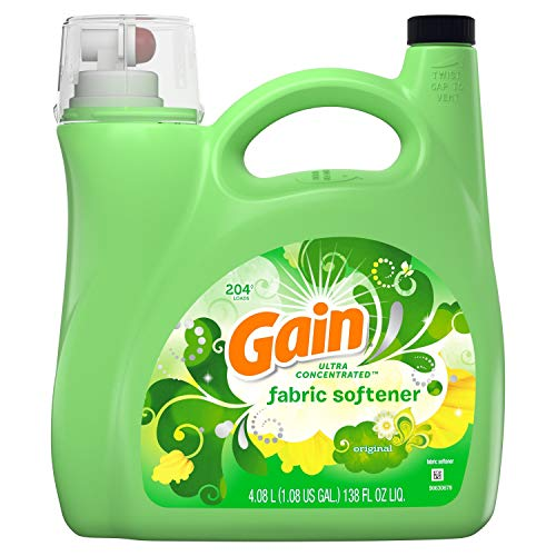 Gain Ultra Concentrated Liquid Fabric Softener, Original (138 fl oz, 204 loads)