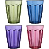 Rhapsody 12-ounce Plastic Tumblers | set of 8 in 4 Assorted Colors