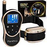 Planetico Remote Dog Training Collar, Large Clear LCD Screen