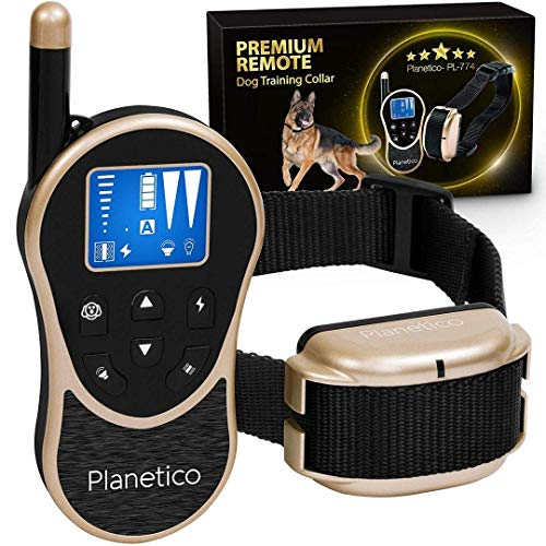 Remote Dog Training Collar, Large Clear LCD Screen, Bark & Behavior Control Device PL-774, Waterproof, Rechargeable, 2625 Ft Long Range, Beep / Light / Vibration / Shock Modes to Train Your Pet Safely (Best No Bark Collar For Beagles)