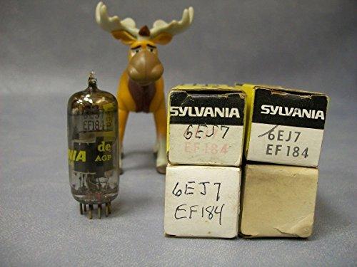 6ej7-ef184-vacuum-tubes-lot-of-4-magnavox-sylvania