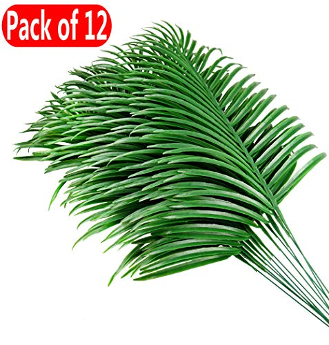 JWCTECH Artificial Plants Palm Leaves