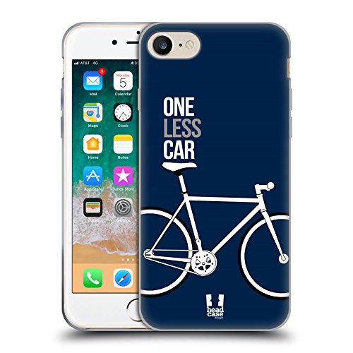 Head Case Gears - Head Case Designs One Less Car Fixed Gears Soft Gel Case for iPhone 7 / iPhone 8