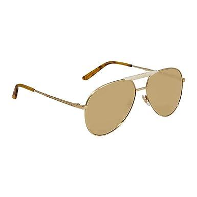 9851fd170 Gucci Aviator Sunglasses for Men - Yellow Lens, GG0242S-004-59 ...