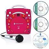 Singing Machine Singing Machine Sml283Pnk Portable Plug-N-Play Karaoke Cdg Player Mit Extra Bonus Cd'S Pink