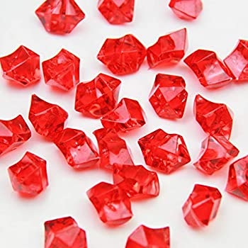 Amazon Com Red Acrylic Ice Rock Crystals Treasure Gems For Table Scatters Vase Fillers
