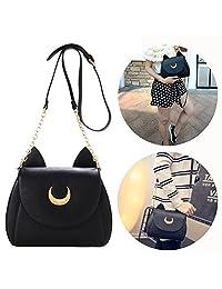 Itian PU Leather Women's Handbag Shoulder Bag (Black)