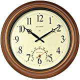 AcuRite 50314 18-Inch Copper Indoor/Outdoor Atomic Clock and Thermometer