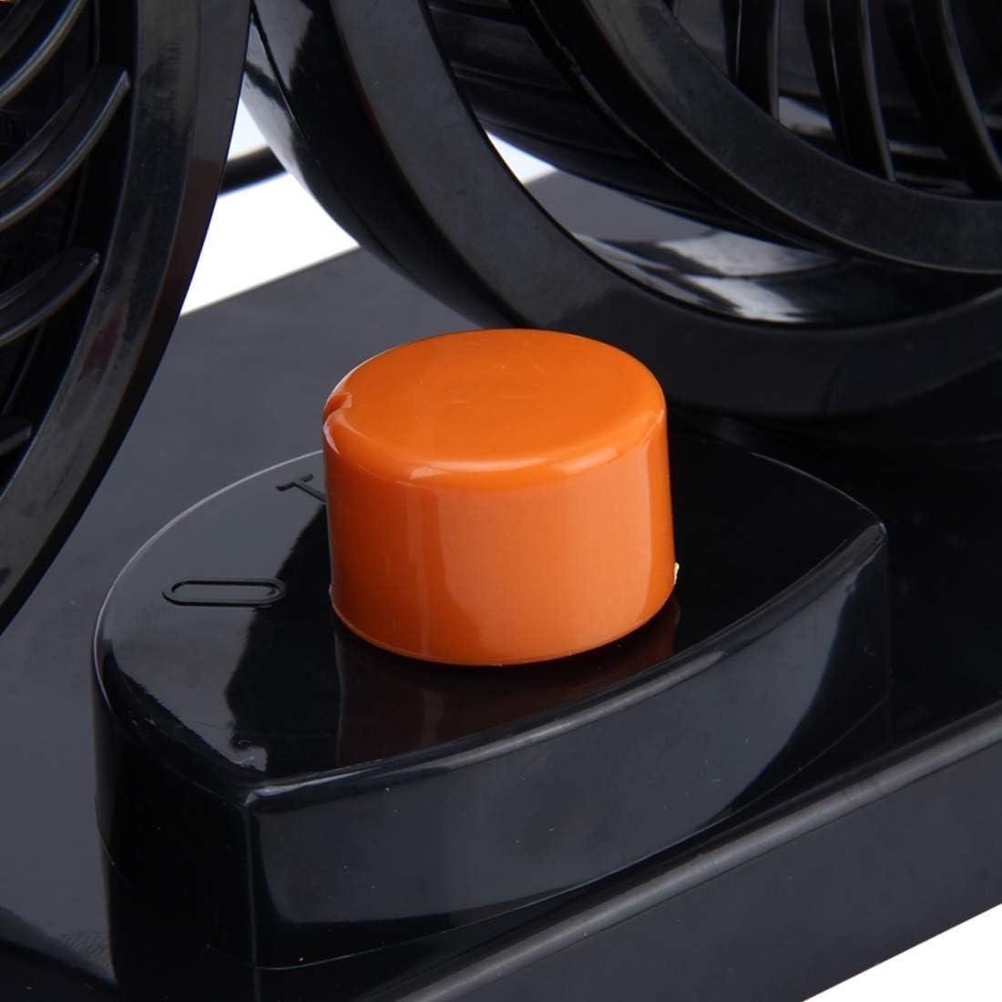 Creativity Trend Sunshine Modern USB Fan Desk Lamp HUXIN HX-T303 6.5W 360 Degree Adjustable Rotation Two Head Low Noise Mini Electric Car Fan DC12V Fashion Safety and Environmental pr