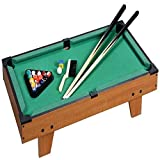 Rexco Large Wooden Pool Table Top Set Childrens Kids Cue Balls Toy Snooker Game Deluxe Family Play Set Xmas Gift
