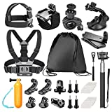 Bestter 30-in-1 Sports Action Camera Camcorder Accessory Kit for GoPro Hero 5/Hero Session/Hero 6 5 4 SJCAM DBPOWER VicTsing APEMAN Rollei Lightdow Sony Sports DV: Chest/Head/Wrist Strap and More