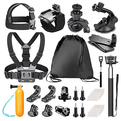 Bestter 30-in-1 Sports Action Camera Camcorder Accessory Kit for GoPro Hero 5/Hero Session/Hero 6 5 4 SJCAM DBPOWER VicTsing APEMAN Rollei Lightdow Sony Sports DV: Chest/Head/Wrist Strap and More by Bestter