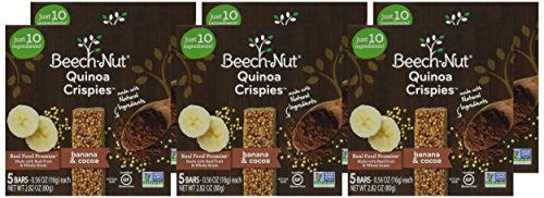 Beech-Nut Quinoa Crispies Banana & Cocoa Toddler Snack, 0.56 Ounce (Pack of 6) by Beech-Nut (Image #1)