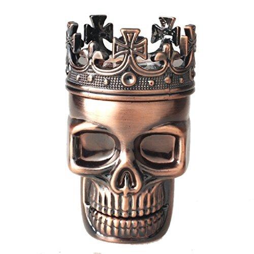 Coper-King-Skull-Metal-Tobacco-Spice-Grinder-Crusher-3pcs-Pollen-Catcher-Premium-Quality