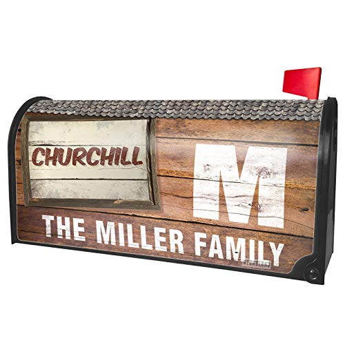 NEONBLOND Custom Mailbox Cover Churchill Cocktail, Vintage Style