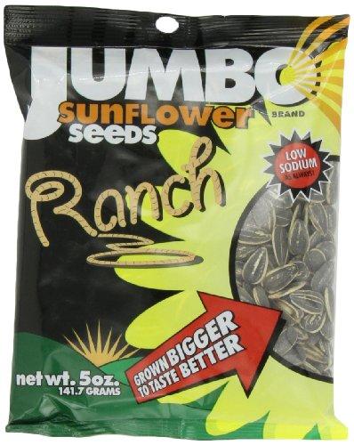 JUMBO SUNFLOWER SEEDS Sunflower Seeds, Ranch, 5-Ounce (Pack of 12) ()