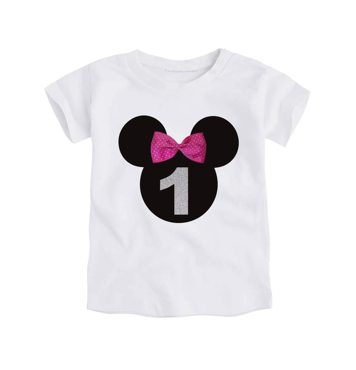 Camiseta Primer Cumpleaños Bebe Niña / 1 Año/Número 1 / Lazo ...