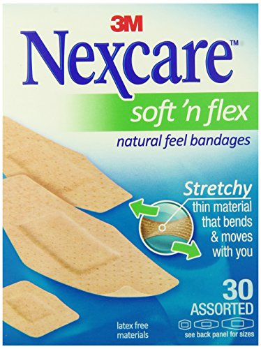 Nexcare Comfort Flexible Fabric Bandage, Latex Free, Assorted Sizes, 30 Count (Pack of 6) (Latex Free Bandages compare prices)