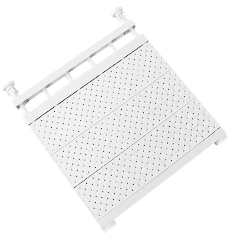 Scaffale Estensibile per Armadio di Supporto fissato al Muro di mensola di stoccaggio Regolabile per Guardaroba Alextry Rosa 29-46cm