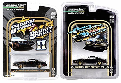 (Smokey & The Bandit Set Trans-Am Hollywood Movie Series Pontiac Car Set - Part 1 & II Greenlight)