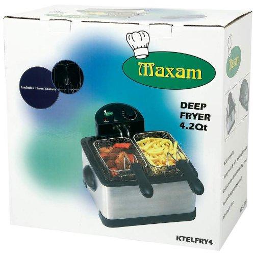 Maxam KTELFRY4 Electric Deep Fryer, 4 quart
