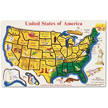 Amazoncom The Learning Journey Lift Learn USA Map Puzzle Toys - Map of united states states