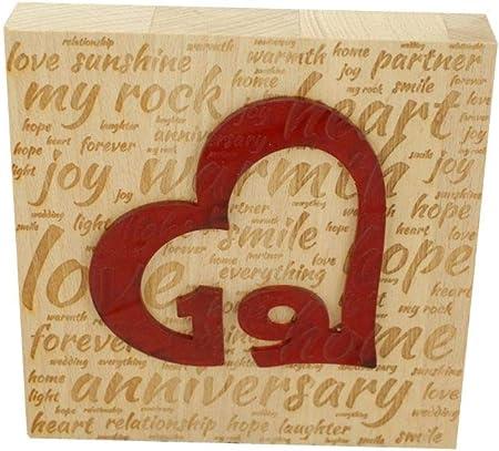 19 Anniversario Di Matrimonio.Blocco Di Legno Di Faggio Per 19 Anniversario Di Matrimonio Con