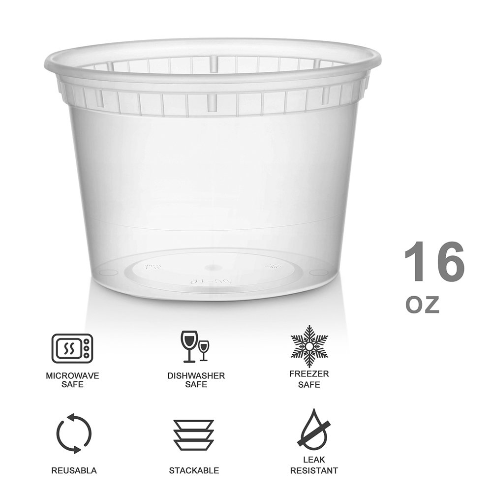 Exceptional Amazon.com: Glotoch 24 Pack Durable Plastic Microwaveable Reusable Clear  Takeout Travel Deli Food Storage Containers With Lids, Dishwasher And  Freezer Safe, ...