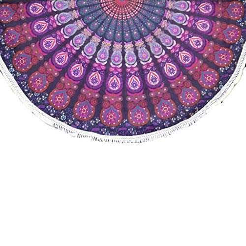 Pink Hippy Mandala Round Roundie Beach Throw Beach Towel Yoga Mat Mandala Tapestry - Americana Decor's