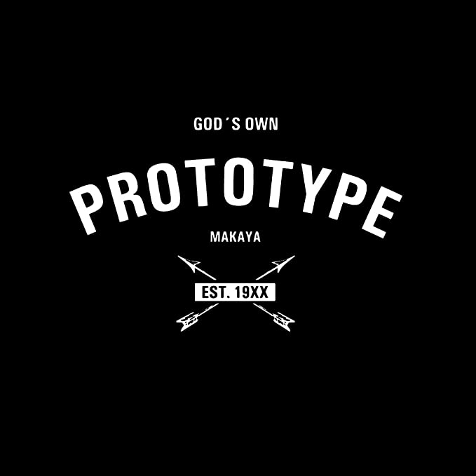 MAKAYA Magliette Regali Donna Compleanno Gods Own Prototype T-Shirt con Frasi Divertenti