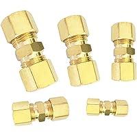 Accesorios de compresión de latón recta métrica de Cobre//Gas//tubo tubo tubo de vapor