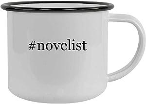 #novelist - 12oz Hashtag Camping Mug Stainless Steel, Black