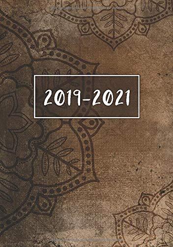 2019 - 2021: Comienza con semana 27 | Julio 2019 - Junio 2021 | Vista Semanal | 1 Semana en 1 Página | 24 Meses Calendario Planificador | A5 Planner | Vintage Mandala por Planner Pro