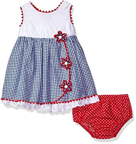 Americana Skirt - Bonnie Baby Baby Girls Americana Dress, Seersucker Flowers 24M