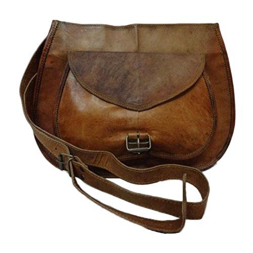 Mad Over Shopping, Borsa della borsa della spalla della spalla dell'annata delle donne del cuoio genuino del progettista
