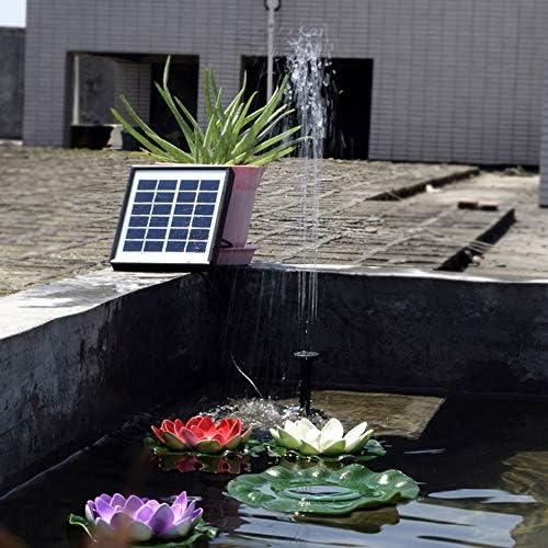Fontaine dext/érieur Pompe /à Eau pour Bain doiseaux ou bassins Pompe /à Eau /à /énergie Solaire Asdomo Pompe /à Eau Solaire pour Fontaine de Jardin Pompe /à Eau Submersible 500 l//h Noir