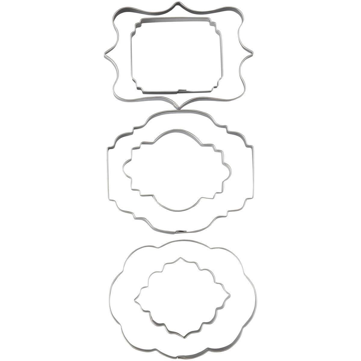 Emporte-Pi/èces Plaque pour P/âte /à Sucre lot de 6