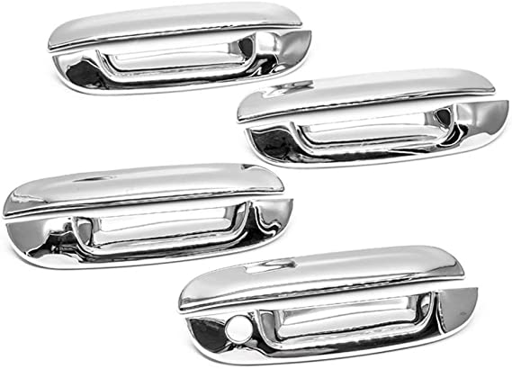 LJ INTERNATIONAL Quality Accessories Chrome Plated Handle Covers Compatible with Chevy+GMC+Cadillac+Buick+Isuzu SUVs Compacts