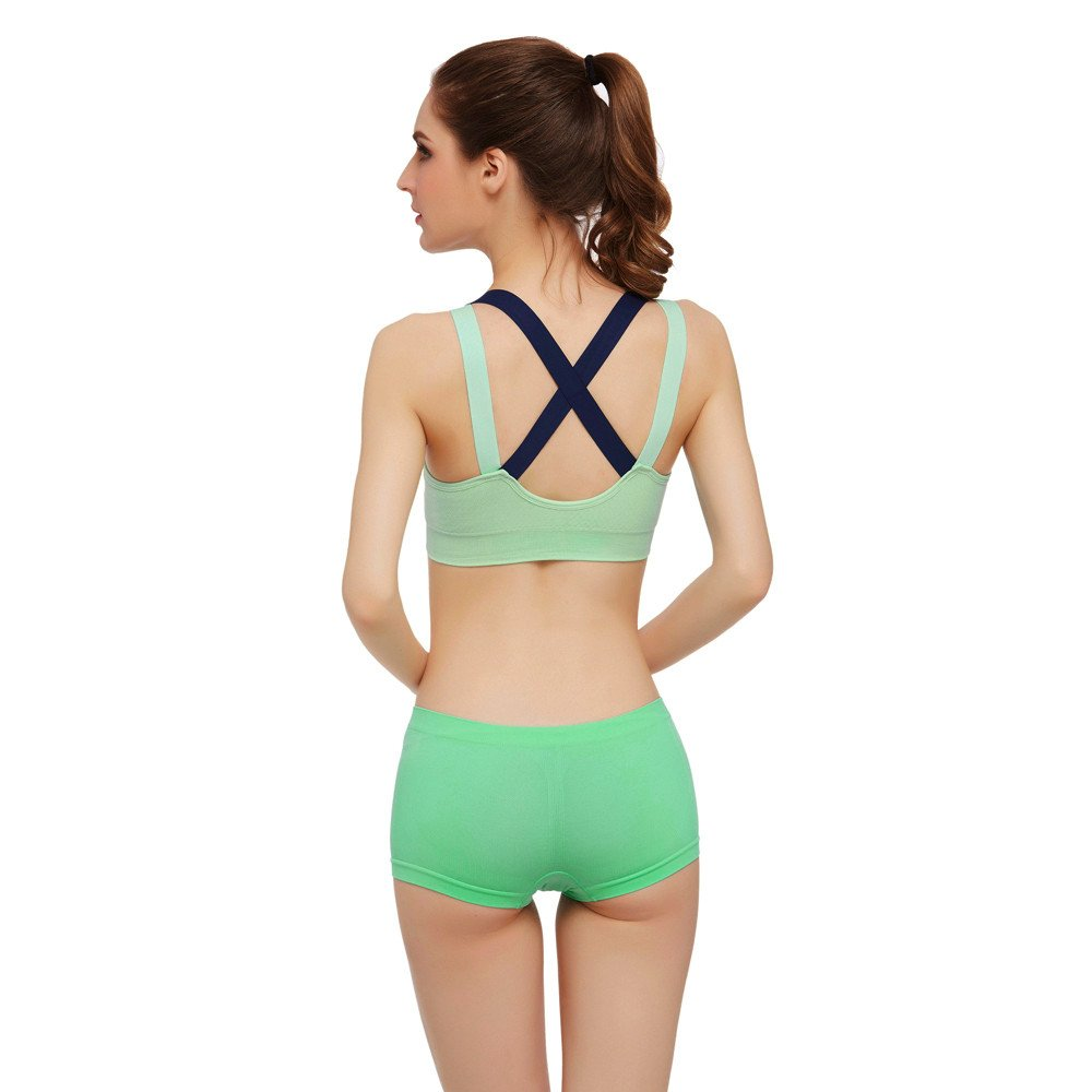 CapsA Racerback Sports Bras for Women Crossback Seamless High Impact Support for Yoga Gym Workout Fitness