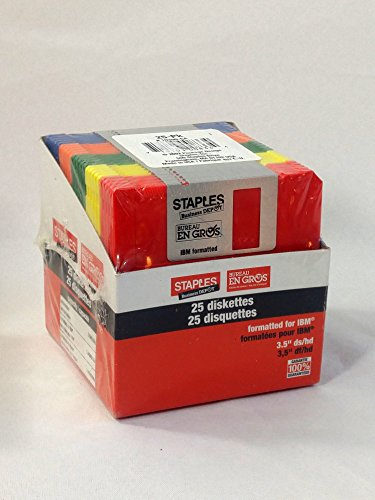 3.5 Inch Diskettes, 25 Pack, 1.44 MB, IBM Formatted by Staples by Staples